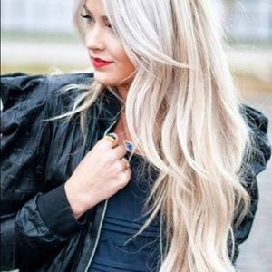 """Accessories - Clip - in 18"""" human hair extensions - blonde"""